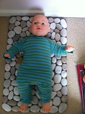 Bamboo Baby Romper  Long Sleeve  Teal/olive  0-3  Months Old