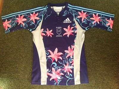 adidas Paris SF floral and reflective  size L t-shirt in EC