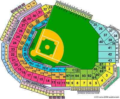 4 Boston Red Sox BL39 tickets vs Cleveland 7/31