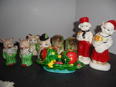 Vintage Salt And Pepper Shakers, 5 Pairs