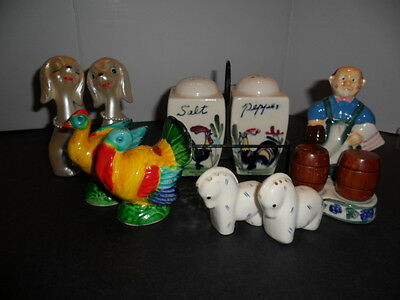 5 Pairs Of Vintage Salt And Pepper Shakers