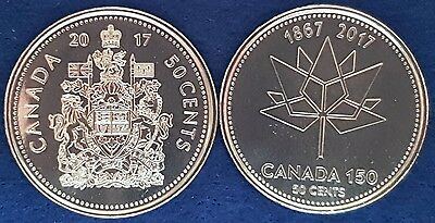 2017 Canadian Fifty Cent Coins 150th anniversary Of Canada GEM UNC ID #98D