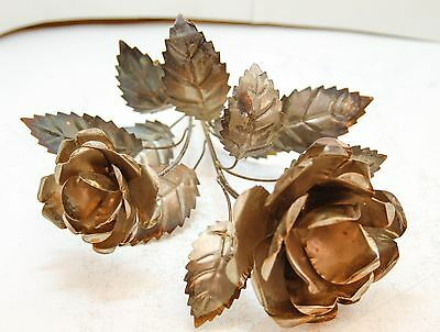 Flower Rose Decoration Floral Metal Roses Handcrafted Gift