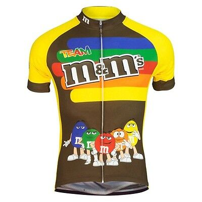 Team M&Ms Cycling Jerseys Mens Womens Jersey Shirt Breathable Quickdry Cartoon
