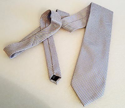 PAUL SMITH LONDON silk BLUE / GOLD print neck tie cravatte made in italy