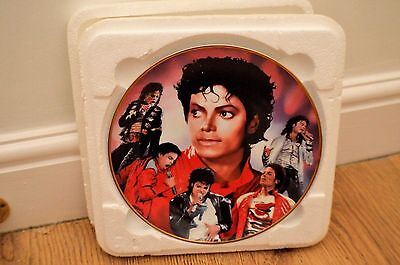 """Danbury Mint 8"""" Plate Collectible Michael Jackson -  'Top of the World'"""