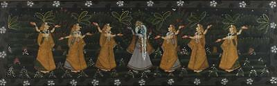 INDIAN PAINTING ON FABRIC. - 20 in. x 65 1/2 in. Lot 41A