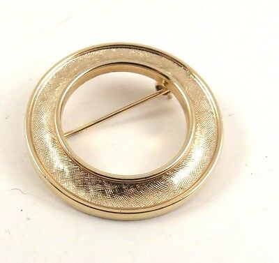 Vintage TRIFARI Brooch Pin Gold Tone Signed C85
