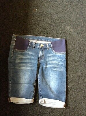 Size 10 Denim Maternity Shorts
