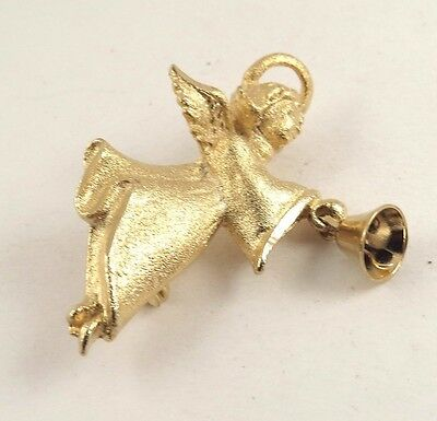 Vintage Angel Brooch Gold Tone Signed B914