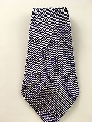 Tom Ford Mens Tie Made in Italy 100% Silk Woven Geometric Print