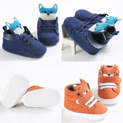 Cute Infant Toddler Baby Boy Girl Soft Crib Shoes Sneaker Newborn to 18 Months