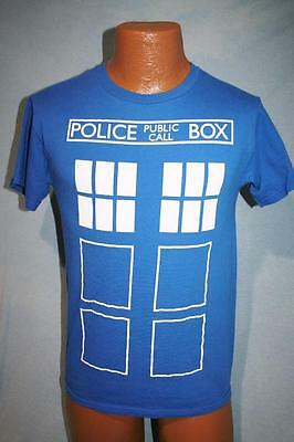 DOCTOR WHO Tardis Public Police Call Box BLUE T-SHIRT S DR WHO Daleks BBC TV