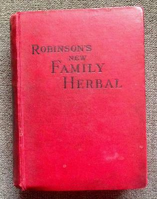 1880 ANTIQUE Herbal CURES Apothecary HOMEOPATHIC MEDICINE Herbs BOTANY MEDICAL
