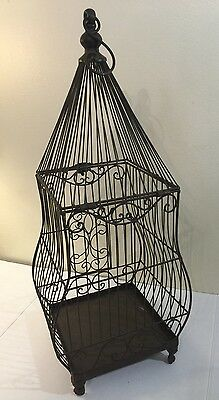 Decorative Tall Birdcage Colonial Style In Steel Rustic Style Wedding Wishes