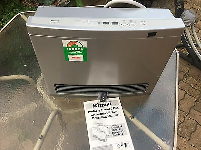 Rinnai Avenger 25 Convector Natural Gas Heater 25MJ like New