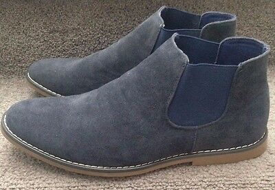 Mens Smart Low Ankle Chelsea Boots Pull On Size UK 9