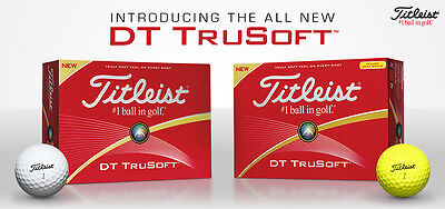 1 Dozen Titleist Trusoft Golf Balls New Available In White Or Yellow