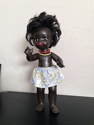Very Old & Rare Original Vintage Doll (Black African Girl) Factory Made in USSR