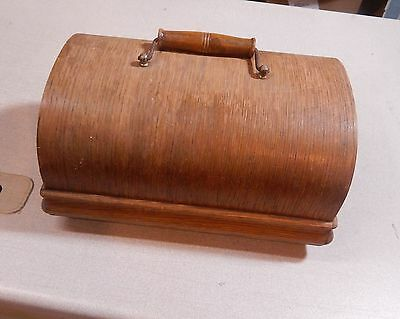 Antique Sewing Machine Wood Coffin Top Cover Box LID ONLY