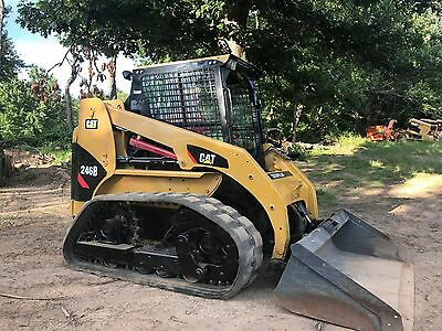 Caterpillar 246B Track Skid Steer  Loader Rubber  Full Enclosed Cab Heat An A/c