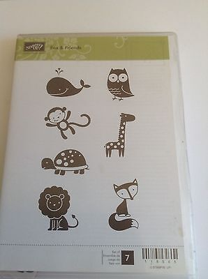 "Stampin Up Cling Stamp ""Fox & Friends"""