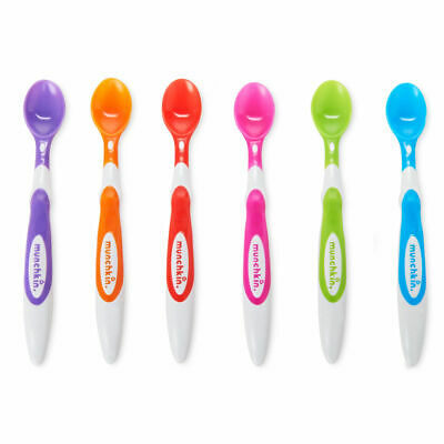 Munchkin Soft Tip Infant Baby Cutlery Infant Spoons 6Pk