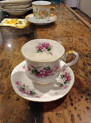 """Royal ascot """"charming violet"""" tea cup and saucer"""