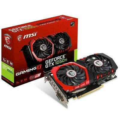 MSI nVidia GeForce GTX 1050 TI Gaming X OC 4GB GDDR5 Graphics Card HDMI DP