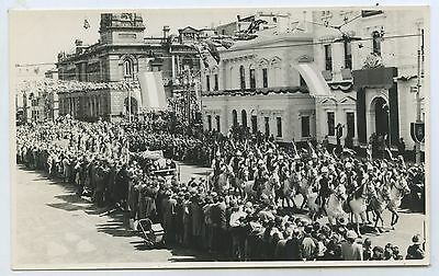 1954 Photo/postcard Procession Qe11  Royal Visit Adelaide L Williams Photo H74