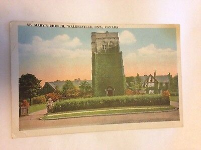 St Mary's Church . Walkerville Ont.  canada postcard