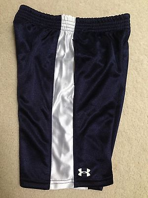 NWT Toddler boys Under Armour sport shorts size 4 4T Navy blue