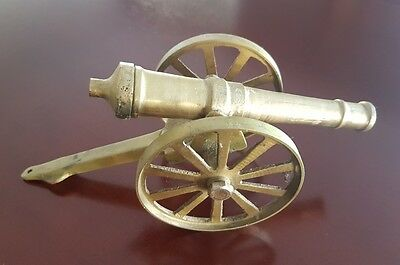 Vintage Brass Cannon Ornament - 21cm