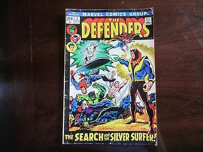 The Defenders 2 Oct 1972 Marvel Comics THe Search For The Silver Surfer