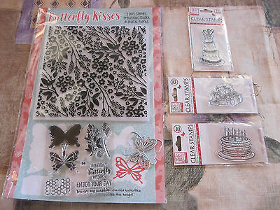 Gorgeous NEW Butterfly Kisses,Dies,Stamps,Embossing Folder.BONUS Stamps x 3.