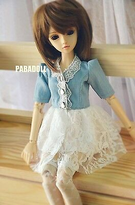 Lace Short Jeans Pants for 1//4 MSD 1//3 SD13 SD16 Doll Clothes CWB31