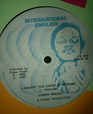 "Junior English~ ""So in love"" & "" I caught you"" 12"" vinyl single.*"