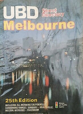 Vintage UBD Melbourne 25th Edition 1970s map melways style street directory