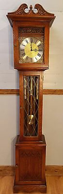 Grandfather Clock-exc condition/exc working order/Hermle Wchimes/Old Charm/oak