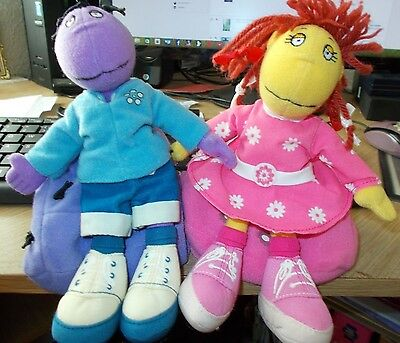"Cbeebies Tweenies  Plush 7 ""  Milo & Fizz Sitting On Detachable Beanbags Toys"