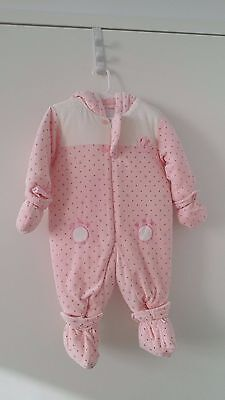 Baby Toddler girl winter puffer romper new size 1 100% Cotton