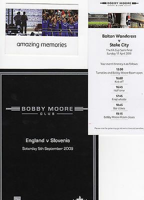 2011 Event Card FA Cup Semi-Final Bolton  v Stoke  issue from Wembley Superb
