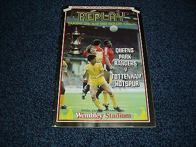 FA Cup Final Replay Programme - Spurs/Tottenham v QPR - 27th May 1982