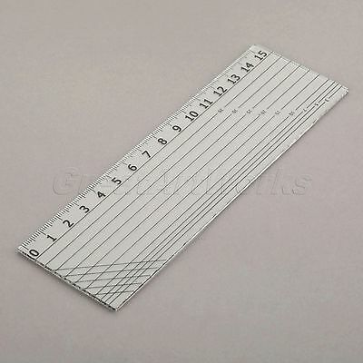 Black Scale Transparent Sewing Quilting Patchwork Ruler Easy Grid Tool 15x5cm