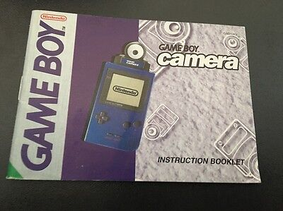 Gameboy Camera  Manual Instruction Booklet  Gameboy Color
