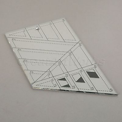 Trapezoid Triangle Diamond Quilting Craft Patchwork Ruler Sewing Craft DIY Tool