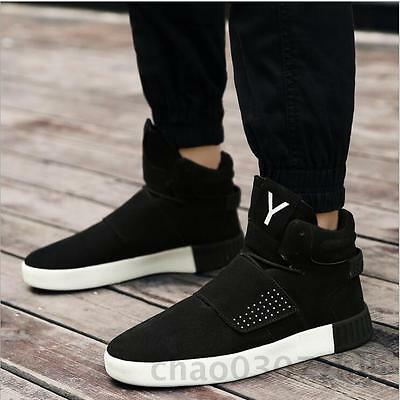New Men's Fashion Running Athletic Casual High Top Sport Sneakers Mens Shoes