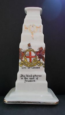 Crested China Cenotaph - City Of London Crest