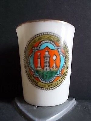 Crested China Beaker- Hoylake & West Kirby Crest (Goss)