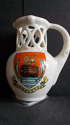 Crested China Puzzle Jug - Congleton Crest